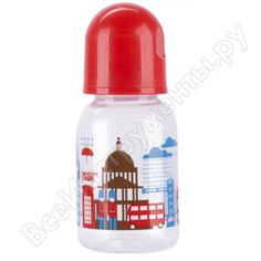 """Бутылочка для кормления с соской молочной """"я люблю"""" lubby от 0 мес., 125мл.,селик/12 12020 нд"""