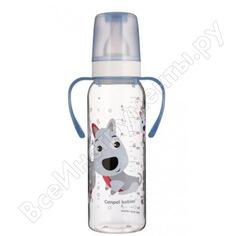 Тритановая бутылочка canpol babies 250 мл. 12+, цвет: голубой, рисунок: собачка 250989442