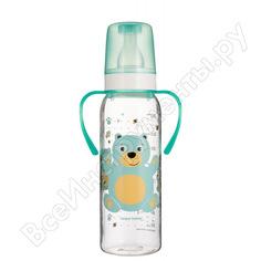 Тритановая бутылочка canpol babies 250 мл. 12+, цвет: бирюзовый, рисунок: мишка 250989460