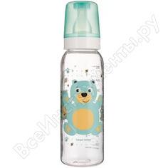 Тритановая бутылочка canpol babies 250 мл. 12+,цвет: бирюзовый, рисунок: мишка 250989457