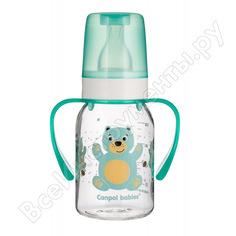 Тритановая бутылочка canpol babies 120 мл. 3+ cheerful animals, цвет: бирюзовый 250989485