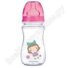 Антиколиковая бутылочка canpol babies pp easystart 240 мл, 3+ toys, цвет: розовый 250989241