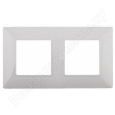 Рамка эра 14-5002-01 на 2 поста, elegance, белый б0034387