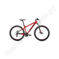 Велосипед forward quadro 27,5 3.0 disc рост 17, 2019-2020, красный rbkw0m67r027