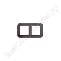Горизонтальная рамка luxar deco на 2 поста венге рифленая 4606400620686