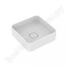 Умывальник мебельный ideal standard strada ii square vessel 40 без отверстия п/смес t296201