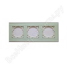 Рамка nilson selene 3-ая стекло белый 23wh0093