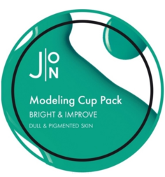 J:ON, Альгинатная маска для лица для тусклой и пигментированной кожи Bright & Improve Modeling Pack, 250 г