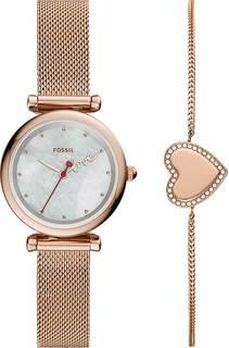 Женские часы в коллекции Carlie Mini Женские часы Fossil ES4867SET