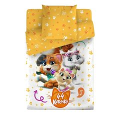 Постельное белье детское поплин (простыня 150х215 см, наволочка 70х70 см, пододеяльник 215х145 см) 44 котенка Веселая компания 4498-1+4498а-1 Bravo Kids Dreams