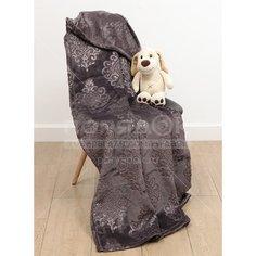 Плед Silvano двуспальный (180х200 см) полиэстер, Византия вензель шоколад