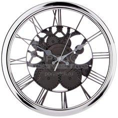 Часы настенные Gear 220-446 серебро, 30 см