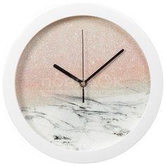 Часы настенные Вега Мрамор с розовым кварцем П1-7/7-556 Vega