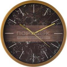 Часы настенные Marble 220-386 черные, 27.5 см