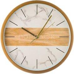Часы настенные Marble 220-385 белые, 27.5 см
