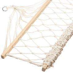 Гамак плетеный NSH-6 из поликоттона бежевый, 200х100 см