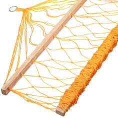 Гамак плетеный NSH102 нейлоновый желтый, 200х100 см