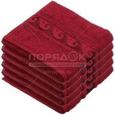Полотенце банное, 50х90 см, Cleanelly Elegance, 460 г/кв.м, бордовое ПЦ-2601-2033 156