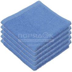 Полотенце кухонное, 30х30 см, Belezza Ocean, 400 г/кв.м, синее 6083697 Китай Cleanelly
