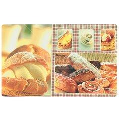 Скатерть из пластика Хлеб 2944 двухсторонняя, 58х97 см