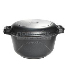 Казан с антипригарным покрытием Нева Металл Посуда 6870 с крышкой-сковородой, 7 л