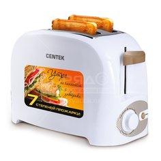 Тостер Centek CT-1420 белый, 0.75 кВт