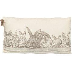 Подушка декоративная Семья кроликов рогожка, 35х60 см Guten Morgen