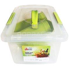 Набор посуды для пикника на 4 персоны Giaretti Bono GR1812ОЛ оливковая роща