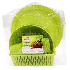 Набор посуды для пикника на 5 персон Giaretti Bono GR1810 оливковая роща
