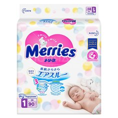 Подгузники детские Merries 359593 90 шт, 5 кг