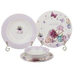 Сервиз столовый из керамики, 24 предмета, Лавандовая весна 87-098