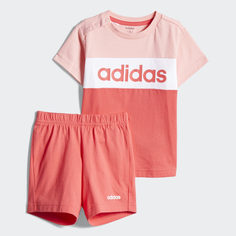 Комплект: футболка и шорты Colorblock adidas Performance