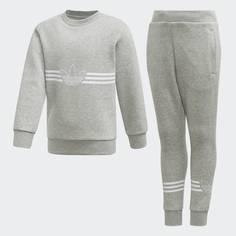 Комплект: свитшот и брюки Outline adidas Originals