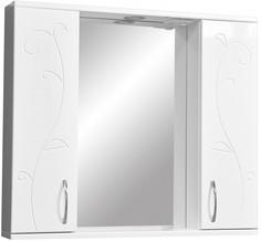 Зеркальный шкаф 80х70 см белый глянец/белый матовый Stella Polar Фантазия SP-00000226