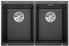 Кухонная мойка Blanco Subline 350/350-U InFino антрацит 523574