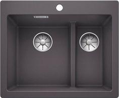 Кухонная мойка Blanco Pleon 6 Split InFino темная скала 521690