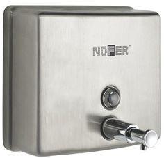 Диспенсер для мыла 1200 мл матовый хром Nofer Inox 03004.S