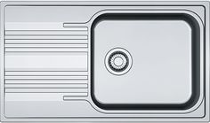 Кухонная мойка Franke Smart SRX 611-86 XL полированная сталь 101.0368.321