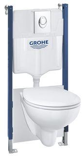 Комплект подвесной унитаз Grohe Solido 39427000 + 39493000 + система инсталляции Grohe 38939000