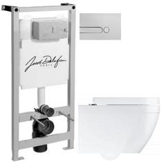 Комплект подвесной унитаз Grohe Euro Ceramic 39328000 + 39330001 + система инсталляции Jacob Delafon E5504-NF + E4326-CP