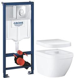 Комплект подвесной унитаз Grohe Euro Ceramic 39206000 + 39330001 + система инсталляции Grohe 38721001