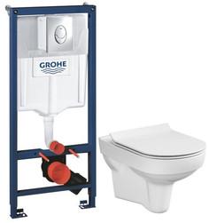 Комплект подвесной унитаз Cersanit City MZ-CITY-COn-S-DL + система инсталляции Grohe 38721001