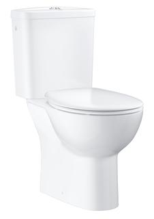 Унитаз напольный GROHE Bau Ceramic со смывным бачком и сиденьем (выпуск в пол или стену), альпин-белый (39347000)