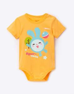 Оранжевое боди «Малышарики» для малыша Gloria Jeans