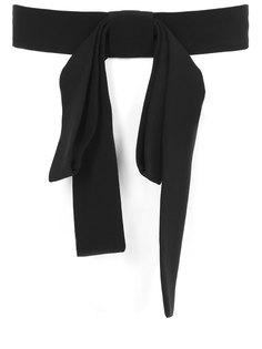Текстильный пояс с бантом TV285/черный Marni