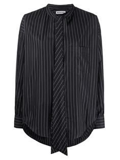 Рубашка хлопковая в полоску 520497TGM04 Balenciaga