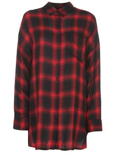 Рубашка удлиненная в клетку KCFA17002DWB Красный Черный Kendall+Kylie
