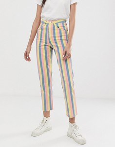 Полосатые джинсы в винтажном стиле с завышенной талией Wrangler-Мульти