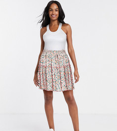 Мини-юбка с цветочным принтом Reclaimed Vintage inspired-Мульти