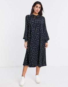 Черное свободное oversized-платье Vila-Черный